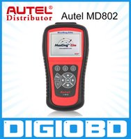 Wholesale Data Stream Reader - Original AUTEL MaxiDiag Elite MD802 for 4 System With Data stream Model Engine,Transmission,ABS and Airbag 4 in 1 Auto Code Scanner