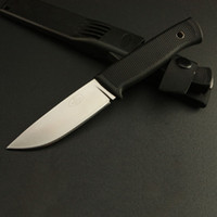 Wholesale 8cr13mov 58hrc - 2016 New Arrival Sweden F1 Survival Straight knife 8Cr13 58HRC Satin Blade ABS Rubber Handle Outdoor Camping Hunting knife