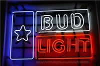 Compra Stelle Pubblicità-Bud Light Star Neon Sign Handcrafted Real Tubo di vetro Neon Sign Sign Beer Bar KTV Club Disco Pubblicità Display Display 24