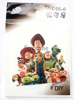 Wholesale Toy Story Iron Patch - Toy Story Series Embroidered patch Woody iron on Motif sew on iron on Applique DIY accessory 50pcs