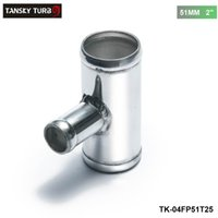 "Wholesale Tansky Blow Off Valve - TANSKY - Universal BOV T-pipe 51mm 2"" outlet 25mm Blow Off Valve T Joint Adaptor TK-04FP51T25"
