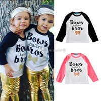 Wholesale Tee Tank Children - Children boys girls INS T-shirts letter Bows Before Bios,Big sister,Minnie is my homegirl,i Love you Deeriy Tees cartoon baby tops Tanks C15