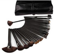 Wholesale Professional Makeup Portable Bag - Professional Makeup Brushes 32pcs sets 24pc Portable Full Cosmetic Make up Brushes Tool Foundation Eyeshadow Lip brush with bag