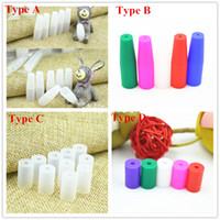 Wholesale Ego Test - Colorful Disposable Silicone Mouthpieces Silicone Cover Drip Tip Test Tips tester wrapped For ego CE4 CE5 H2 MT3 510 Atomizer DHL Free