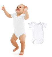 Wholesale Newborn Clothes Onesies - Baby Rompers Suit Summer Infant Triangle Romper Onesies 100% cotton Short sleeved babies clothes boy girl pure white full sizes Newborn Baby