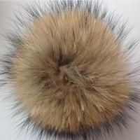 Wholesale Raccoon Hair - Faux Raccoon Fake Fur Hair Huge Ball Fluffy Pompom Hat Bag Shoses Accessory