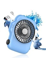 Wholesale Portable Personal Fans - Camera Style 4-inch Vanes STEPLESS SPEED Portable Mini USB Fan Rechargeable Batteries Handheld Fan Desktop Fan,Large Airflow, Personal Cooli