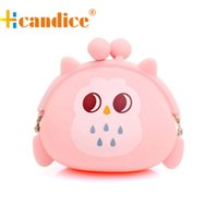 Wholesale Cheap Cute Small Bag - Wholesale-Brand new fashion Cute Hasp Coin Purse wallets Mini bag Cheap Retro Owl Silicone Jelly Small Money Bags