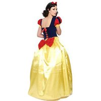 Wholesale Halloween Costume Genie - costumes genie Plus Size XXL Adult Snow White Costume Carnival Halloween Costumes for Women Fairy Tale Princess Cosplay Female Long Dress