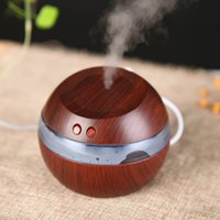 Wholesale Electric Home Diffuser - USB Air Humidifier 300ML Ultrasonic mist maker diffuser aromatherapy electric Mini Air Diffuser Wood Grain for Home Car Office