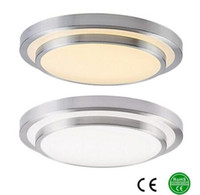 blanco lámpara de techo led al por mayor-Luces de techo del LED 350m m aluminio + Acryl alto brillo 110v 220-240v, blanco fresco blanco caliente, color 3, lámpara del color de Dimmable Envío libre