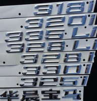 Wholesale Bmw X6 Rear - BMW Chinese number Letter Rear Silver ABS Chorm Sticker for X1 X4 X5 X6 GT 3 5 class