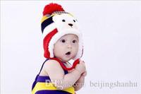 Wholesale Tie Fit Baby - Winter Animal Hats For Children Kids Aviator Hat Cute Warm Cap Baby Earflaps Velvet Thickening Crochet Knitted Boy Girl Beanies