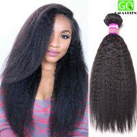 Wholesale New Yaki - New Arrival Yaki Straight Hair Peruvian Virgin Hair Straight Coarse Yaki Mink Peruvian Remy Human Hair Weave 8A Great Quality Thick Hair
