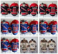 Wholesale Dark Grey Hoodie Men - Stitched New York Rangers Hoodies 11 Messier 30 LUNDQVIST 61 Nash 99 Gretzky Hockey Camo Dark Blue Jerseys Ice Jersey Hoodies Mix Order