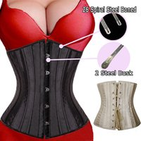 Wholesale Sexy Steel Bone Underbust Corset - Wholesale-26 Spiral Steel Boned Waist Trainer Underwear Underbust Corsets and Bustiers Sexy Lingerie Top Plus Size S-6XL Free Shipping