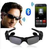 беспроводной наушник для ipad оптовых-Солнцезащитные Очки Bluetooth Наушники Солнцезащитные Очки 4.1 Стерео Беспроводной Громкой Связи Bluetooth Наушники Для Сотовых Samsung Galaxy S7 S6 Ipad