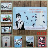Wholesale Whisky Bar Signs - New 2016 Metal TIN SIGNS Whisky car moviesRetro Poster Vintage iron metal painting for Home Bar Cafe Pub wall Decor 20x30 cm