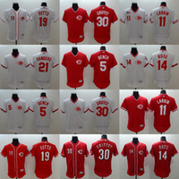 Wholesale Bench Shirts - Men's Elite Cincinnati reds #11 Barry Barry #30 Ken Griffey Jr. #14 Pete Rose #5 Johnny Bench #19 Joey Votto Baseball Jerseys Shirts