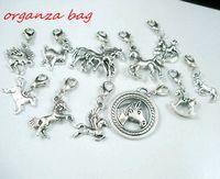 ingrosso aragosta a pendente-MIC 110 pezzi argento antico lega Mix cavallo fascino ciondolo e aragosta artiglio chiusura gioielli fai da te
