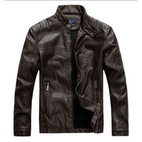 Wholesale Business Man Winter Coat Black - Motorcycle Leather Jackets Men Autumn Winter Leather Clothing Men Leather Jackets Male Business casual Coats New clothing