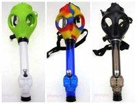 Wholesale Halloween Gas Masks - Gas Mask Bong Tabacco Shisha Acrylic Pipes Smoking Hookah Halloween Party Silicone Rubber Mask Free Shiping Wholesale