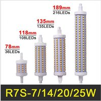 R7s led 118mm dimmable Prix-R7S Lampe LED 78mm 118mm 135mm 189mm 7W 14W 20W 25W LED R7S ampoule de maïs léger Dimmable SMD2835 R7S LED Lighting