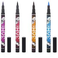 Wholesale Eye Liner Liquid Blue - 4 Colors YANQINA 36H Makeup Eyeliner Pencil Waterproof Black Eyeliner Pen No Blooming Precision Liquid Eye Liner Pencil CCA7082 1200pcs