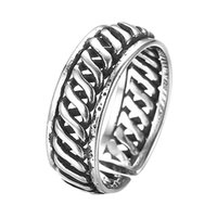 Wholesale Gifts For Men Ideas - 5pcs lot Real Pure 925 Sterling Silver Vintage Knuckle Ring for Men Wholesale Brand Jewelry Christmas Gift Ideas