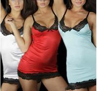 Wholesale Lenceria Plus - Plus Size Sexy Lingerie Lace Dress Underwear Nightwear Sleepwear 2016 Erotic Nightwear Nightgown Lingerie Set Women Lenceria Sexy
