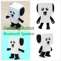 Wholesale Party Robots - Bluetooth Speaker Intelligent Robot Dance Stereo New Multi-function Cartoon Dance Robot Dog Multi-function Robot Xmas Gift DHL Free Shipping