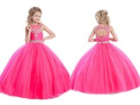 Wholesale Kinds Ball Gowns - Princess Wedding Toddler Skirts 2016 Pageant Ball Gowns Flower Girls Dresses Formal Floor Length For Little Girls Dress Crystals Cheap Kinds