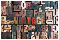 Wholesale wallpaper words for walls for sale - Group buy High end Custom d photo wallpaper murals wall paper Retro words D living room wallpaper background wall home decor
