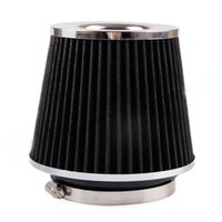 Wholesale Air Filter Wholesalers - Universal Air Intakes Twin Cone Design Black Air Filter adjust from 10.1cm to almost any size (up to around 55mm)