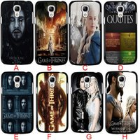 Wholesale Cool Covers For Galaxy S3 - Coolest Game of Thrones TV Show CellPhone Cases for Samsung galaxy S3 S4 S5 S6 samsung Note 2 note3 note4 5 Phone Case Hard Back Case Cover