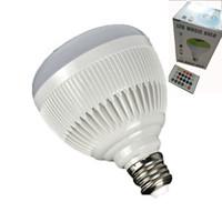 ingrosso telecomando universale del bluetooth-Lampadina E27 Smart Bulb Light dimmerabile 12W RGBW Bluetooth Speaker Bulb Musica Riproduzione di luce LED con 24 tasti Telecomando con pacchetto