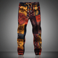 Wholesale Especially Man - Wholesale-2015 new spring loose print top fashion man   woman especially stretch pants upscale men's casual clothing size M ~ 5XL