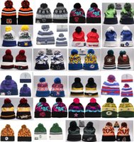 Wholesale Beanie Sports Teams - Wholesale winter beanies All Team baseball football basketball beanies sports team Women Men popular fashion winter hat DHL free shipping