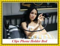 clip telefone montagem venda por atacado-Alta Qualidade 360 Rotativa Flexível Braço Longo Clips suporte de telefone celular suporte de cama cama preguiçosa desktop tablet car selfie mount bracket
