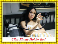 Wholesale Car Mount Rotating Clip - High Quality 360 Rotating Flexible Long Arm Clips cell phone holder bed stand lazy bed desktop tablet car selfie mount bracket