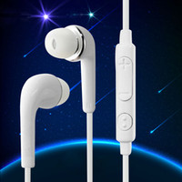 Wholesale Earphone For Volume Control - J5 Earphone S6 Edge Earphones Headphone Earbuds with Microphone and Volume Control for Samsung Galaxy S6 S5 S4 Black White Color