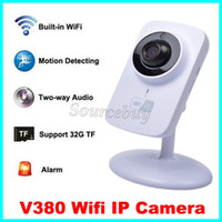 Wireless HD 720P 1280 * 720 V380 Wifi Surveillance de la caméra IP P2P IR LED Surveillance Vision nocturne Surveillance CCTV Smart Camera Support TF Card Record