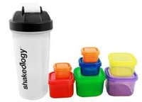 Wholesale Square Plastic Cup - 21 d a y Fix Workout Food Container Plastic Meal Box set kit for Fitness Exercise Supplement Energy Container 1lot =7box +1 cup