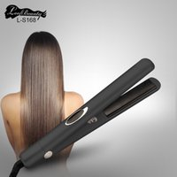 Wholesale Hair Straightener Infrared - Nano Titanium Ionic Infrared Professional Hair Straightener LCD Display Straightening Irons Hair Care Clip