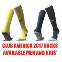 Wholesale wholesale kids soccer socks - Liga MX club america 2017 2018 men's and kids' soccer football socks home away yellow navy dark blue
