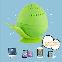 Wholesale Hot Cartoon Mp3 - Hot Sale Snail Bluetooth Speaker Wireless Novelty with Mini Cell Phone Holder Bluetooth Speaker Sound box Wholesales 5pcs Lot