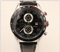 Wholesale Calibre 16 Black Dial - Luxury Calibre 16 ETA 7750 Movement 43mm Black Dial Mens Chronograph Watch Stainless Steel Date Automatic Men's Wrist Watches