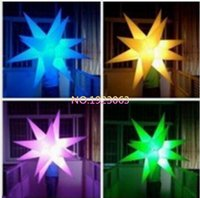 Wholesale Inflatable Led Star Light - Inflatable Party Decoration Star with LED Changeable Light and Blower1m