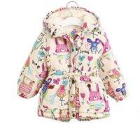 Wholesale Down Feather Kids Coat - Next 2017 Winter Kids Jackets & Coats Girls Graffiti Parkas Hooded Baby Girl Warm Outerwear Cartoon Animal Children's Jacket