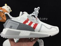Wholesale Core Equipment - 2017 EQT Cushion ADV Europe Exclusive 91-17 Mens Running shoes Core Black white Blue Red Women Equipment Outdoor Athletic sneaker Size 36-44